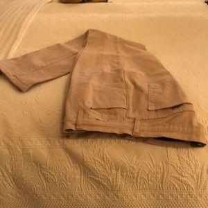 NYDJ twill zip front jean.